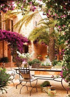 Landscape Focused: landscape, garden design ideas — Home in Mallorca. Via Dustjacket Attic. Outdoor Rooms, Outdoor Gardens, Outdoor Living, Outdoor Decor, Outdoor Patios, Outdoor Retreat, Outdoor Kitchens, Dream Garden, Home And Garden