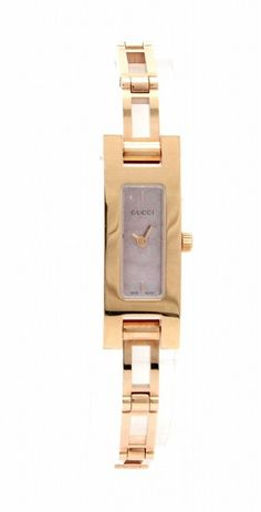 Gucci Watches - Shop designer fashion at Tradesy and save 70% off or more on fashion accessories. Gucci Watches For Men, Vintage Gucci, Square Watch, Gold Watch, Pink, Fashion Accessories, Plating, Luxury Fashion, Quartz