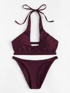 e66467b23d921 Ladder Cut Out Bikini SetFor Women-romwe Boho Swim Suits, Bathing Suits,  Monokini