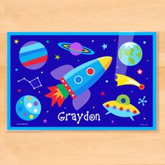 Kids Activity Placemat United States of America and World Map Placemat Laminated Double-sided placemat Personalized placemat for kids