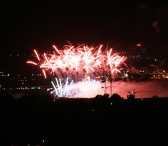 Feuerwerk bei funkelnde Sterne in Neuhausen