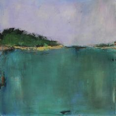 Abstract Landscape Painting - Vermont Pond II by Jacquie Gouveia