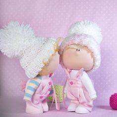 Текстильные куклы ручной работы для души!