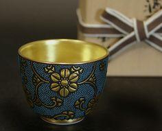 Hand painted Kutani Sake cup.