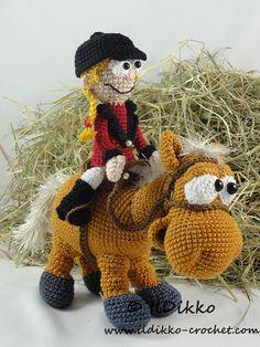 Amigurumi Crochet Pattern  Herbert the Horse & Roberta the