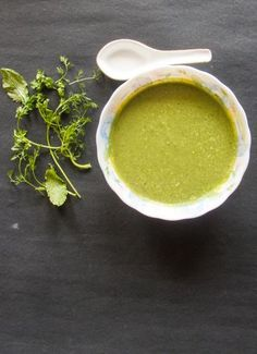 Coriander and Mint Chutneyalso known as Hari chutney, is an Indian Dip made with fresh coriander and mint leaves flavored with ginger garlic and some Indian spices. https://thetastesofindia.com/coriander-and-mint-chutney/