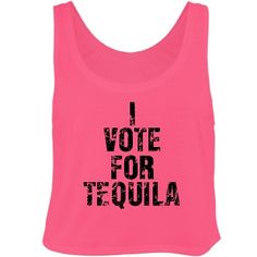 Vote For Tequila Misses Bella Flowy Boxy Lightweight Crop Top Tank Top $24.97 #tequila #alcohol #nationaltequiladay #crop