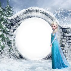 Frozen Elsa Kids PNG Photo Frame