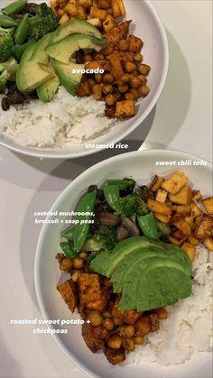 Healthy Recepies, Healthy Snacks, Healthy Eating, Tofu, Avocado, Food Is Fuel, Food Goals, Aesthetic Food, Soul Food
