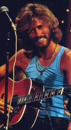 Barry Gibb. Yah I had a crush on him. But who didnt? lol