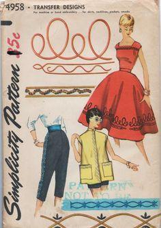Simplicity 4958 | via Vintage Pattern Wiki.
