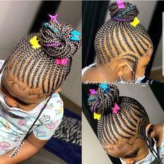 Braids For Black Kids, Cornrows For Little Girls, Little Girl Braid Styles, Kid Braid Styles, Braids For Kids, Braids For Black Hair, Hair Styles, Lil Girl Hairstyles Braids, Little Girls Natural Hairstyles