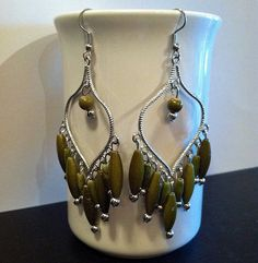 Earrings Gifts For Her Green Gypsy Dangle by TheGypsyShop on Etsy, $7.95