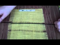 Burlap Weaving # 2: Cutting Yarn and Threading a Needle
