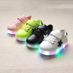 2017 New Design LED Light Shoes Colorful Luminous Kids Sports Sneakers Unisex Sports for Children Eur21-30