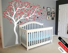 White Tree Wall Decal Huge Tree wall decal Wall by StudioQuee
