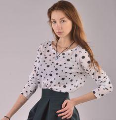 7c28a7c993e Кофта трикотажная из хлопка с длинным рукавом – купить в интернет-магазине  на Ярмарке Мастеров с доставкой. женская одежда Ульяна