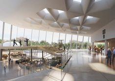 snohetta competition - Google 搜索 Open Space Architecture, Theatre Architecture, Architecture Details, Theatre Design, Hall Design, Floor Design, Lascaux, Parvis, Design Competitions