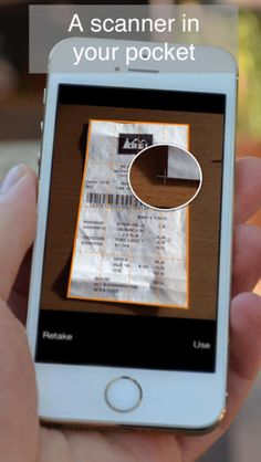 Genius Scan lets you scan documents by taking a photo of anything you want to convert into a JPEG or PDF. I use it all the time for scanning taxi receipts and travel expenses on the spot so I can toss the physical receipts.