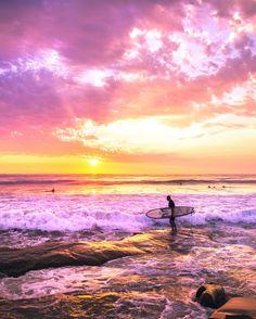 As the day fades away, California