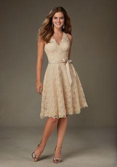 Mori Lee Dresses: Shop Mori Lee Bridesmaid Dresses at Wedding Shoppe Inc. The girls will love the styles & prices with these affordable bridesmaid gowns. Order your Mori Lee Dresses now from Wedding Shoppe Inc. Mori Lee Bridesmaid Dresses, Champagne Bridesmaid Dresses, Knee Length Bridesmaid Dresses, Lace Bridesmaids, Knee Length Dresses, Bridal Dresses Online, Dress Online, Dress Plus Size, Short Cocktail Dress