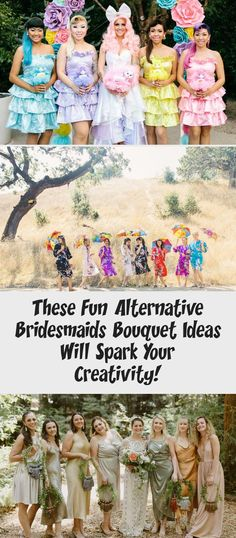These Fun Alternative Bridesmaids Bouquet Ideas Will Spark Your Creativity! - Green Wedding Shoes #BridesmaidDressesHijab #AfricanBridesmaidDresses #BridesmaidDressesTurquoise #UniqueBridesmaidDresses #DavidsBridalBridesmaidDresses