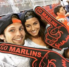 "Daley Blind took a trip to the Baseball whilst holidaying in the States. He posted this photo with the caption:""Go Miami Marlins!"""