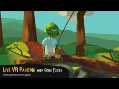 """Green"" VR Painting Live Stream Sneak Peek - YouTube Live Stream, Painting Videos, Vr, Digital, World, Green, Youtube, Rocks, Autumn"