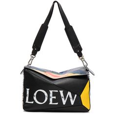 Loewe Extra Large Punk Puzzle Bag (102103950 BYR) ❤ liked on Polyvore featuring men's fashion, men's bags, handbags and mens leather bags
