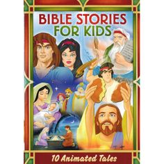 Disc -- Bible Stories for Kids: 10 Animated Tales - Sodom And Gomorrah/Joseph And His Coat Of Many Colors/The Story Of Moses/Samson And Delilah/David And Goliath. Bible Stories For Kids 10 Animated Tales. Jesus Cartoon, Cartoon Kids, Christian Kids, Christian Movies, Animated Bible, Christian Cartoons, Bible Heroes, Buy Bible, Daniel And The Lions