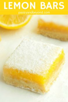 Lemon Curd Bars-These lemon bars with lemon curd are sweet and tangy. They are delicious with a crunchy crust. If you are a lemon lover, you should definitely try these easy lemon squares with shortbread base! #lemoncurd #lemoncurdbars #lemonsquares #lemonbars #easylemonsquares #easylemonbars Recipe on pastryandbeyond.com with step by step pictures.
