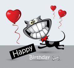 Happy Birthday Card cat smile