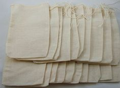 20 Pack of Culinary Muslin Bags, 4x6 inches (approx.), teabag, tea, herbs * Want additional info? Click on the image. (This is an affiliate link)