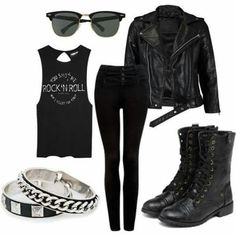Punk rock outfits, outfits for rock concert, punk outfits, fashion outfits Punk Rock Outfits, Emo Outfits, Grunge Outfits, Casual Outfits, Fashion Outfits, Womens Fashion, Winter Outfits, Cheap Fashion, Fashion 2018