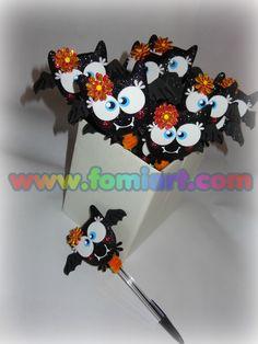 Pequeños Murciélagos para decorar tus plumas. fomiartmexico@gmail.com