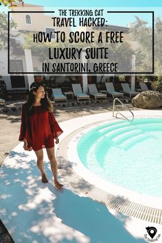 The Trekking Cat - Hotel Review and travel hacking guide for the Vedema, A Luxury Collection in Santorini. Check out how we stayed here for FREE!  | Europe | Travel |