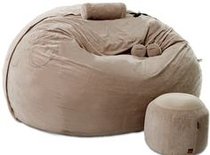 An over sized bean bag called the love sac. I want this to be my bed.