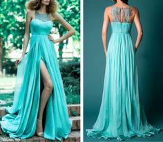 Lace Stitching Chiffon Sleeveless Dresses SF7907JL