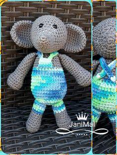 SLONÍK 3.7.2018 Dinosaur Stuffed Animal, Crochet Hats, Animals, Hobbies, Knitting Hats, Animales, Animaux, Animal, Animais