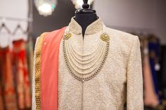 New 2016 Mens Collection! Fully Embroidered and pure silk! #sherwani #achkan…