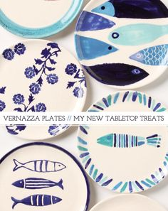 Love these plates, minus the flower one.  If we ever buy a place, I'm decorating the entire place in a beach theme with these colors. -R