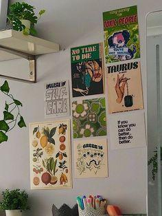 Room Design Bedroom, Room Ideas Bedroom, Bedroom Decor, Bedroom Inspo, Indie Room, Deco Studio, Ideias Diy, Cute Room Decor, Pretty Room