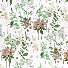Bomull offwhite m blomster Offwhite, Plant Leaves, Bomuld, Plants, Design, Kunst, Plant, Planets