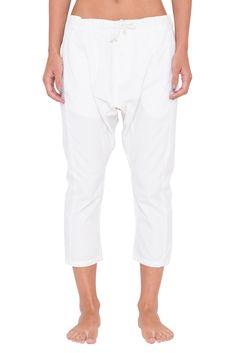 SPECTRUM COTTON PANT WHITE - SHOP WOMENS Assembly Label