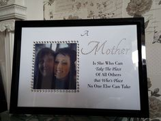 Diamante Framed Mothers Day Picture