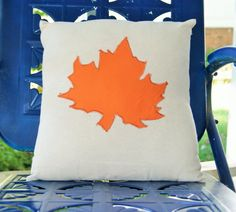 Fall or Autumn Leaves Accent Pillow // 16 x 16 by QuirkyQuiltress