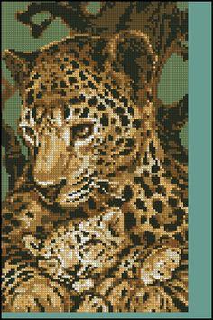Free Patterns for Cross Stitch - Animals 08 - Leopard