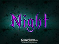 GraphicRiders | Fantasy style – Night (free photoshop layer style, text effect) #graphicriders