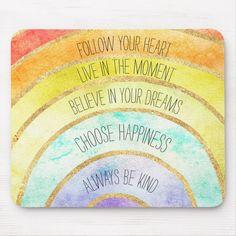 Shop Inspirational Quotes Rainbow Glass Coaster created by GirlyChic. Quotes Rainbow, Rainbow Sayings, Coaster, Following Your Heart Quotes, Rainbow Card, Rainbow Theme, Rainbow Birthday, 5th Birthday, Birthday Ideas