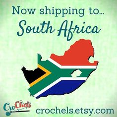 I'm now shipping to South Africa for all those of you not in the States :) one step closer to going world wide  #crochels #crochet #crocheting #etsyusa #etsyprepromo #etsyfinds #etsyshopowner #etsyseller #etsy #etsystore #crochetseller #crochetblog #kawaiicrochet #crochetersofinstagram #supporthandmade #geekycrochet #handmade #handmadecrochet #amazonhandcrafted #handmadeatamazon #crochetaddict #yarn #etsyshop #etsyhunter #etsians #etsyforaetsyforall #workfromhome #localbusiness #southafrica…